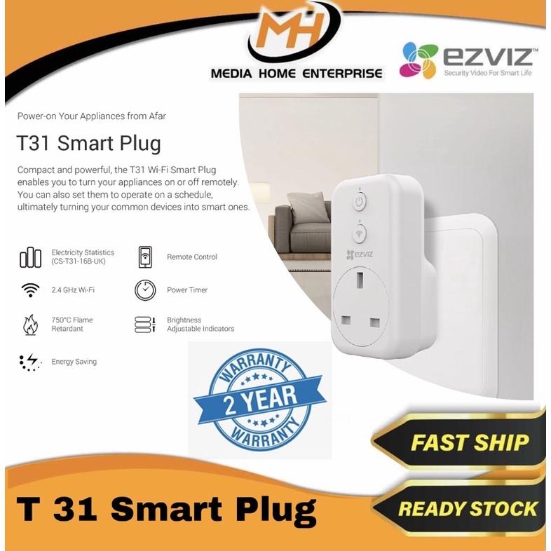 Ezviz T31 Smart Plug - Energy Saving, Power Timer, UK Plug, WiFi