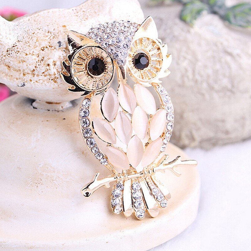 3b9131a0c Big Owl Brooches Bouquet Vintage Wedding Hijab Scarf Pin Up Buckle ...