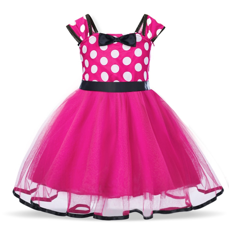Kids Girls Baby Toddler Cartoon Mouse Outfits Party Costume Tutu Dress+Headband