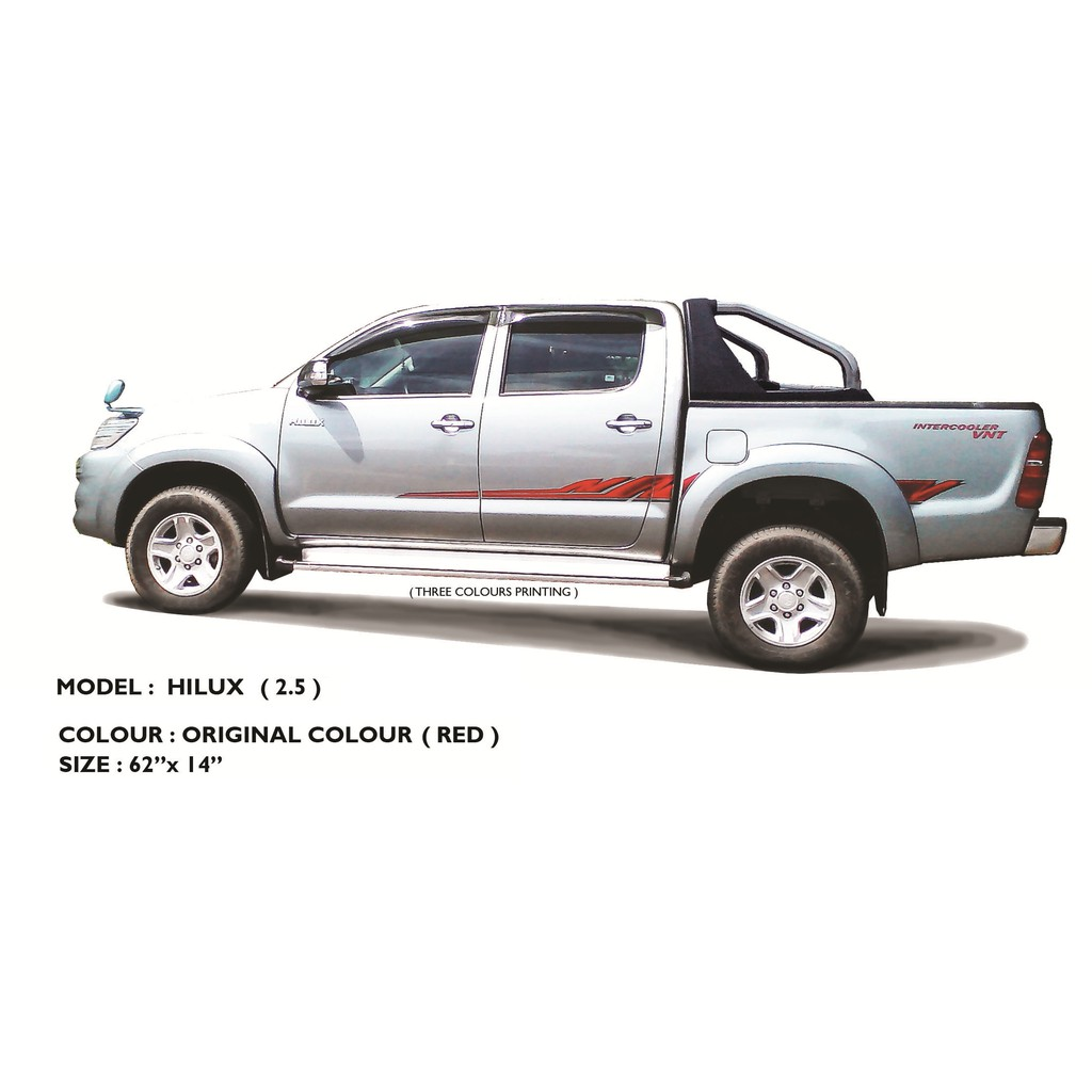 Body sticker side body lining toyota hilux new 2 5 shopee malaysia