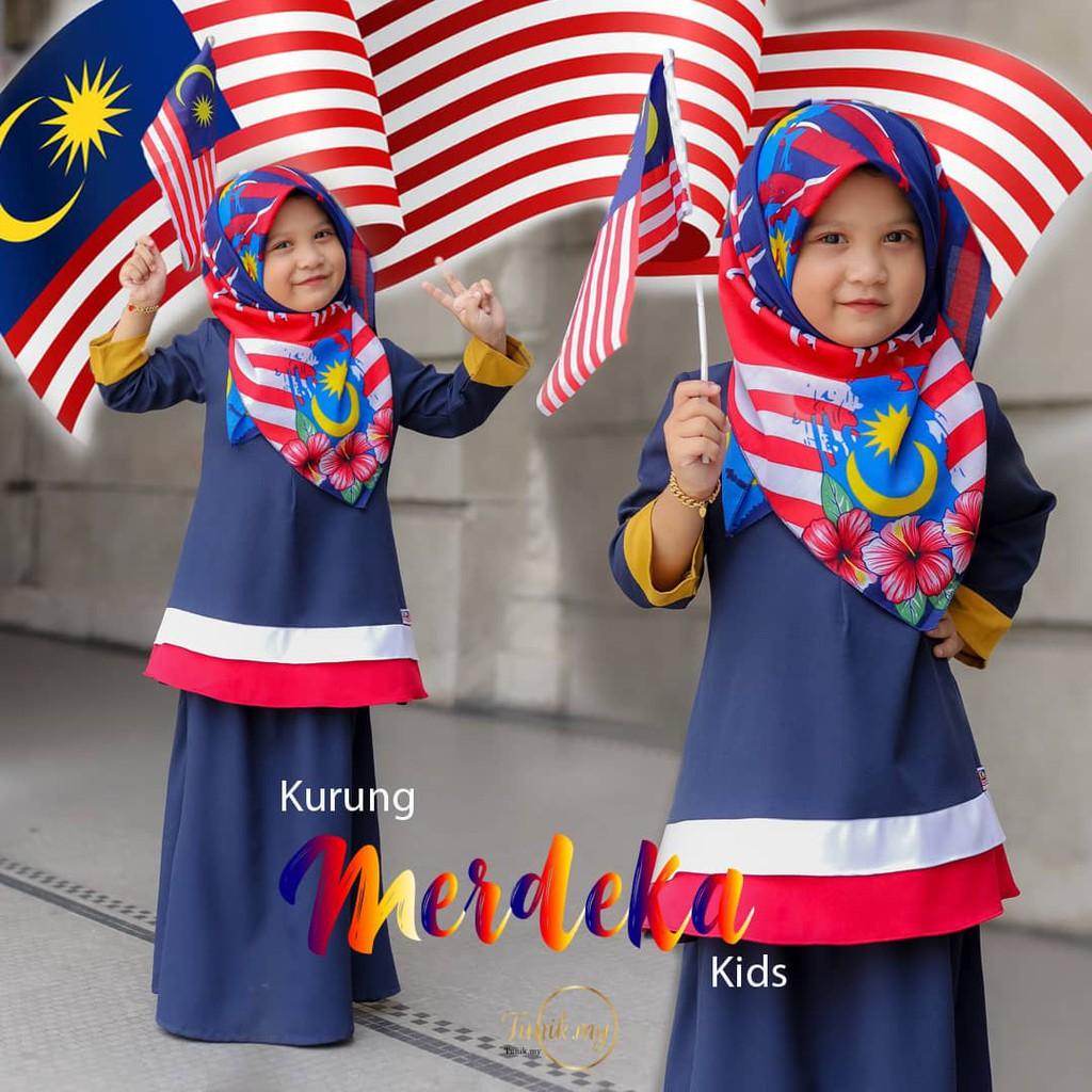Baju Merdeka Kanak Kanak Perempuan Simple