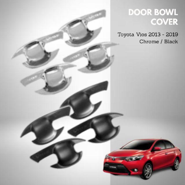 Toyota Vios 2013-2019 Door Bowl Cover Chrome/Black