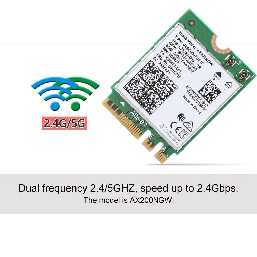 For Intel AX200NGW 802 11AX WIFI6 2 4Gbps Dual Band Wireless Network