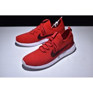 huge selection of 3c578 0018a Nike Roshe Men's and Women's Flyknit V2 Socks Running Shoe Red/White