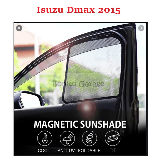 Magnetic Sunshade Isuzu Dmax 2015 4pcs
