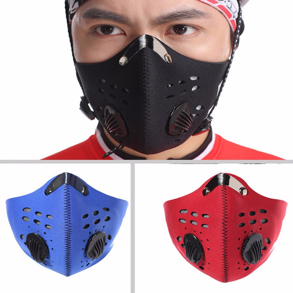 🌟REDYSTOK🌟PM2 5 Haze Dust Motorcycle Cycling Bike Half Face Filter Mask  Topeng