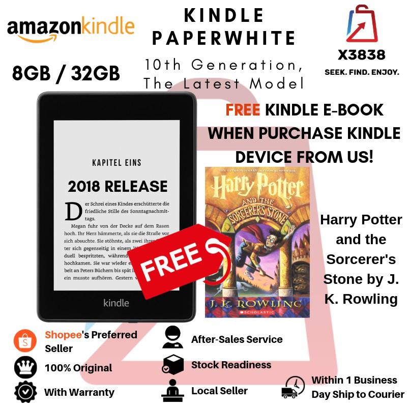 Kindle Paperwhite E-reader 2018, 10th Gen, 6