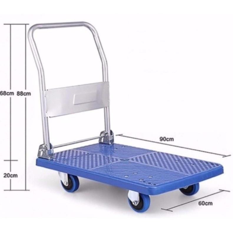 HIGH QUALITY 300kg Foldable PVC Platform Hand Truck Trolley PU Wheel