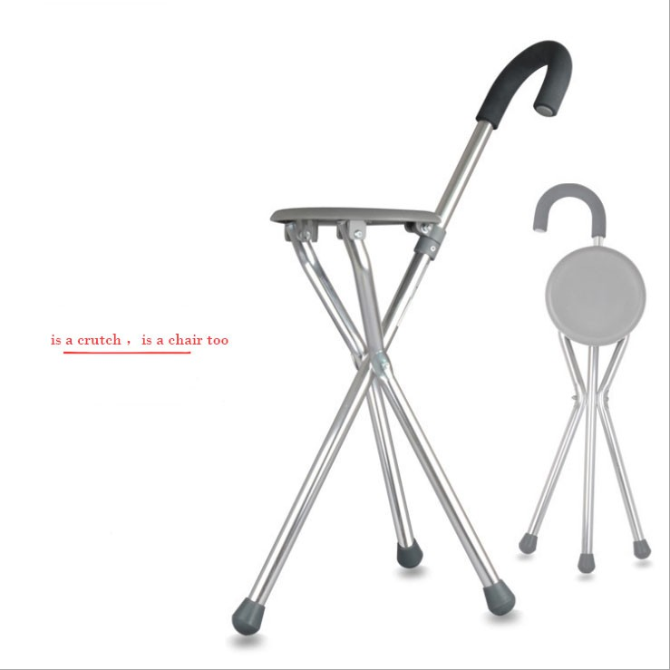 Cool Ce Fda Crutches Stool The Aged Stick Triangle Stainless Steel Fold Walking Stick Pabps2019 Chair Design Images Pabps2019Com