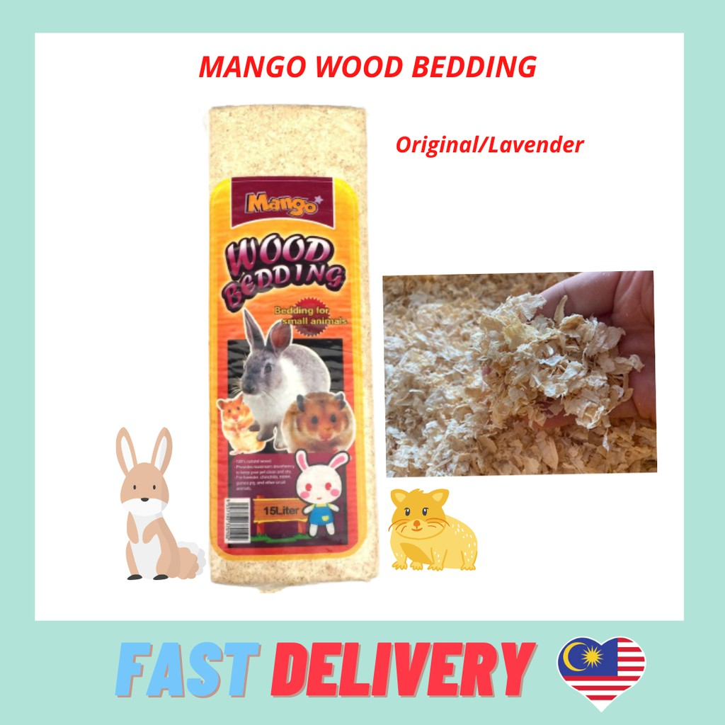Mango Wood Bedding /Euro Horse/ Pine Wood Bedding for guinea pigs/hamster/rabbits/small animals (15 liter)