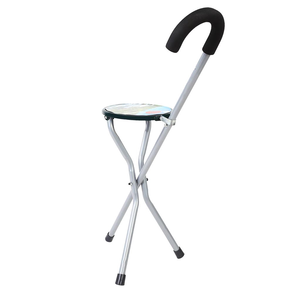 Wondrous Stick Stool Iron Seat Walking Portable Tripod Travel Chair Folding Creativecarmelina Interior Chair Design Creativecarmelinacom