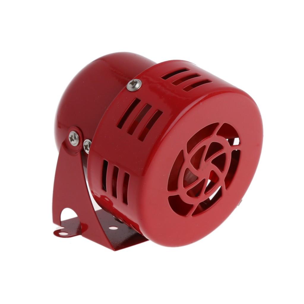 Electric Car Truck Motorcycle Driven Horn//Alarm//Siren Air Raid Loud 50s Red 12V