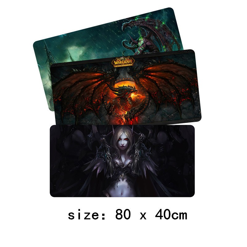 80x40cm XL World of Warcraft Gaming Mouse pad Large Fashion WOW Mousepad mat