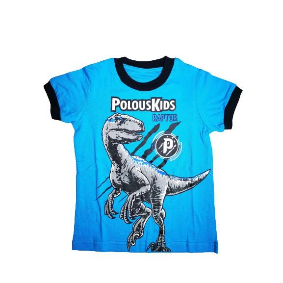 POLOUS Boy Cotton Short Sleeve Round Neck Shirt 9009-Raptor