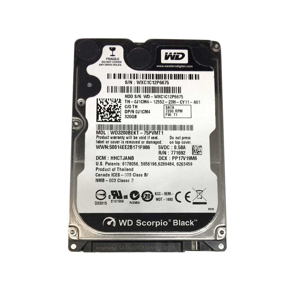 """Western Digital 2.5/"""" SATA 320GB 7200RPM HDD Laptop Hard Drive WD3200BEKT-75PVMT1"""
