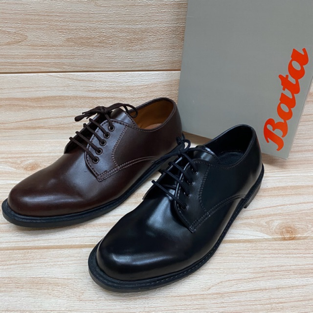 รองเท้าหนังBATA ผูกเชือก สีดำ สีน้ำตาล💯%.