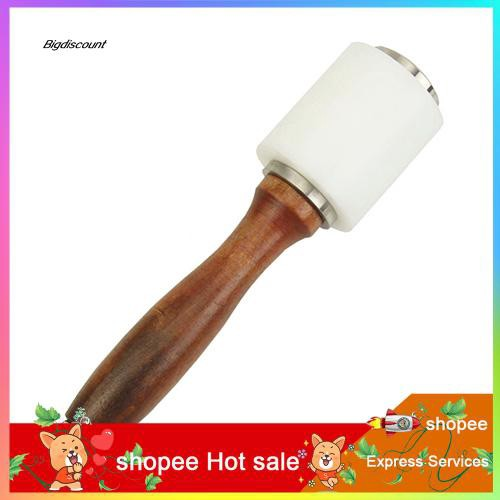 ❉❉❉Wooden Handle Nylon Hammer Leathercraft Carving Punching Mallet Craft DIY Tool