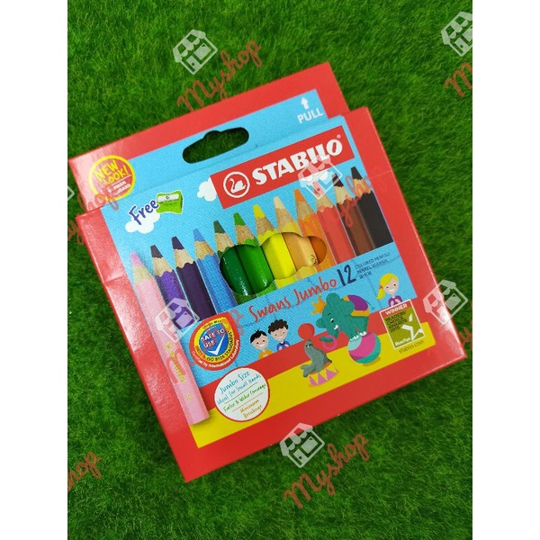 Stabilo Jumbo Colour Pencil 12C & 24C