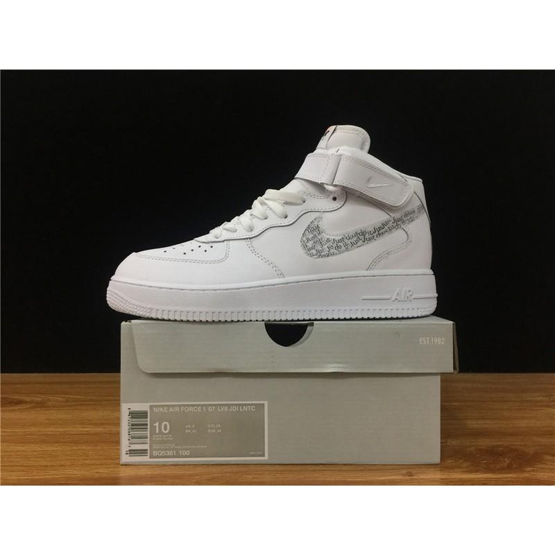 Neu Nike Air Force 1 07 LV8 White BQ5361 100 Mens Womens
