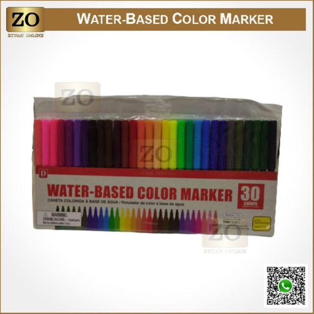 Magic Color Pen / Water-Based Color Marker (30 Colors)