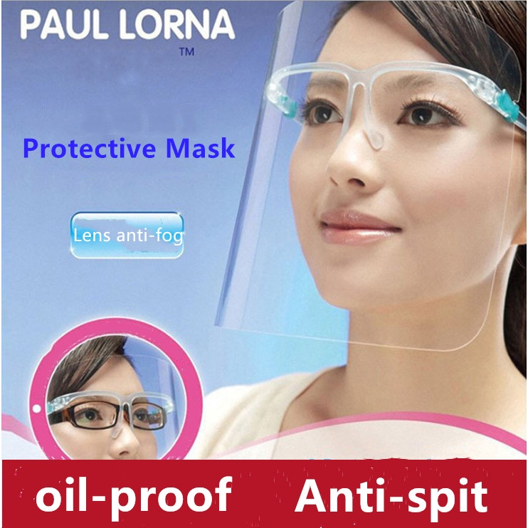 Cooking Anti-fog Anti-Oil Splash Clear Face Mask Double-sided Shield Protector