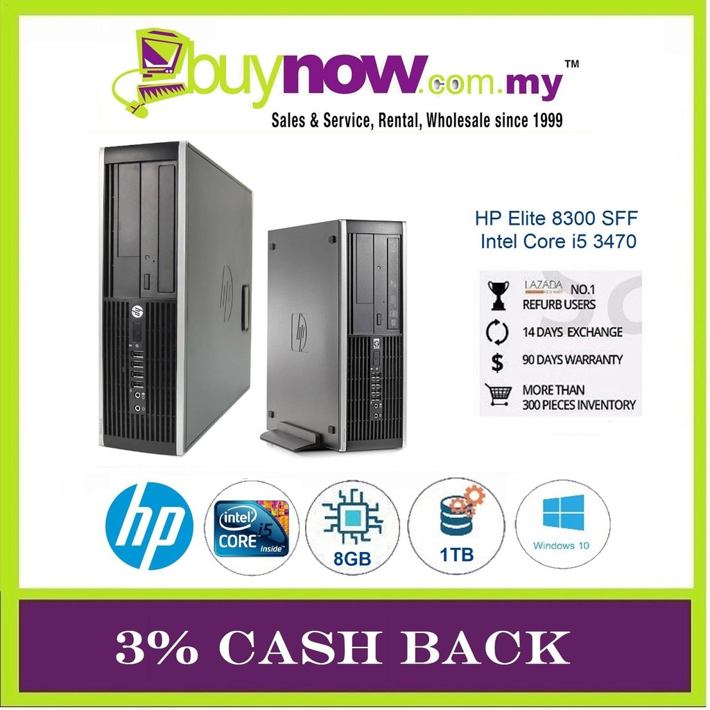 REFURBISHED DESKTOP HP ELITE 8300 i5 / 8GB/ 1TB/ WIN 10 PRO / 3% CASH BACK