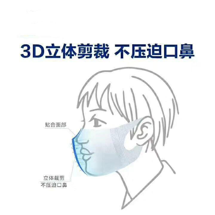 3D Face Mask 10 Boxes ( ADULTS ) 50 pcs / box 3 Layer [Ready Stock]