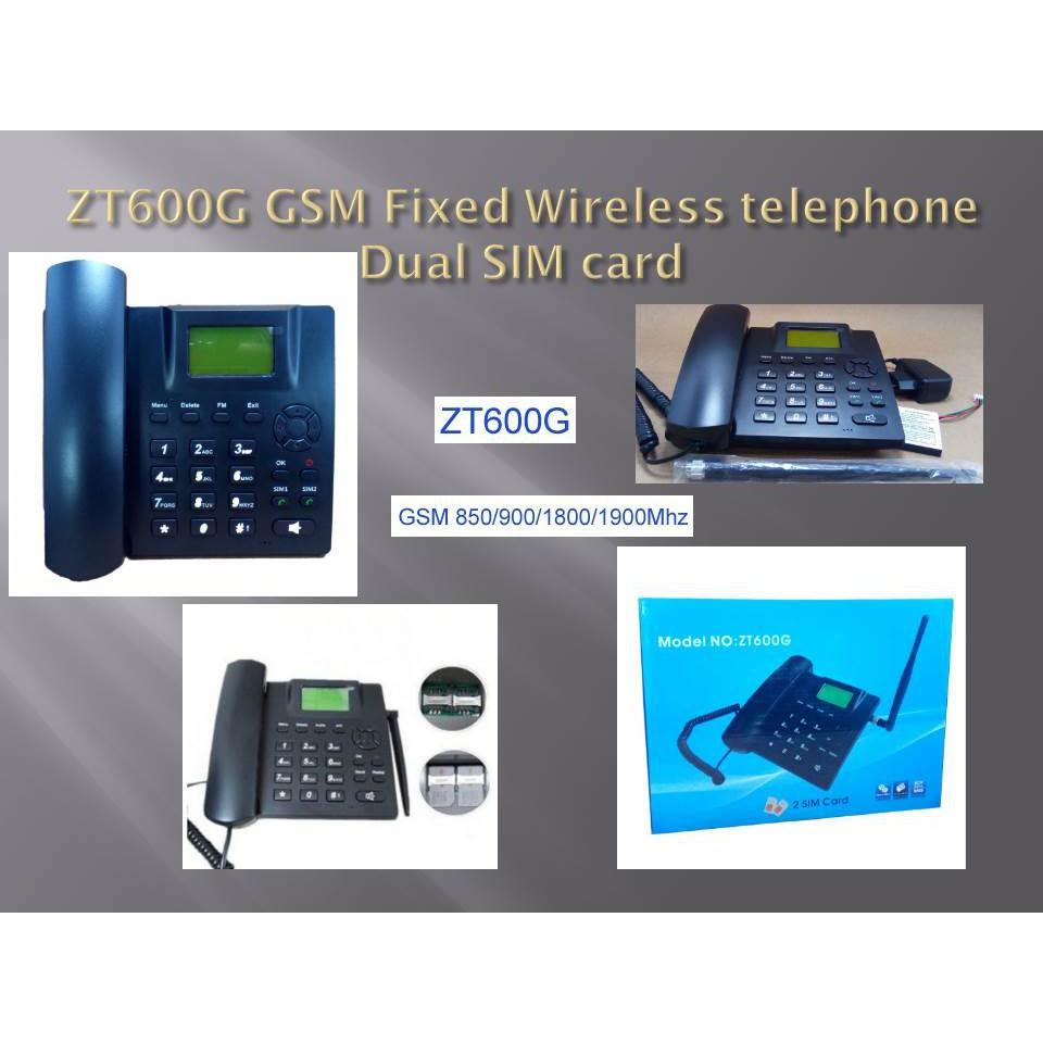 ZT600G GSM FIXED WIRELESS PHONE DUAL SIM CARD