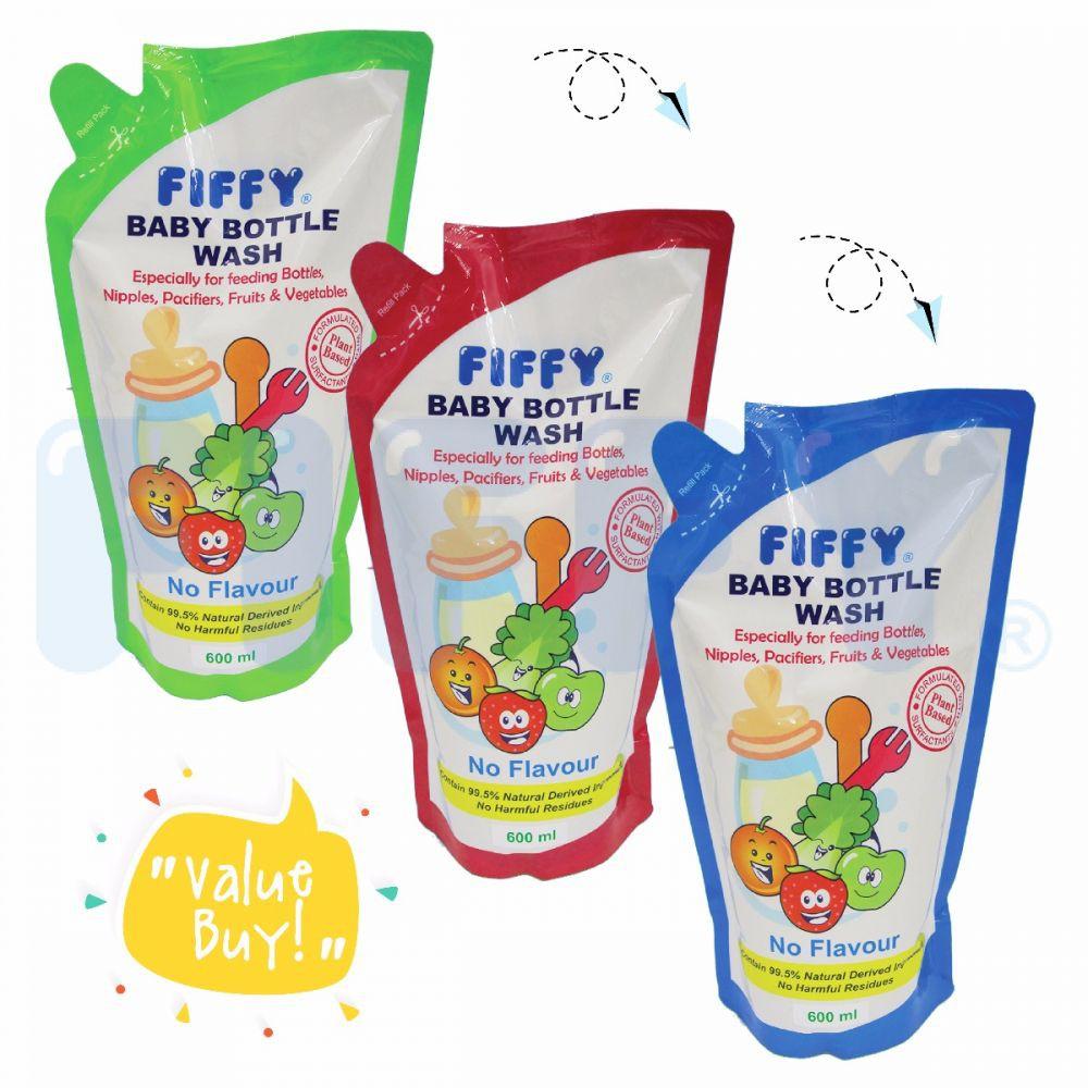 Fiffy Baby Bottle Wash 600ml Refill