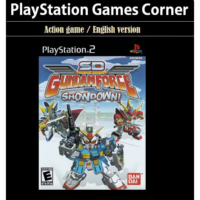 PS2 Game SD Gundam Force: Showdown! Action Game, English version / PlayStation 2