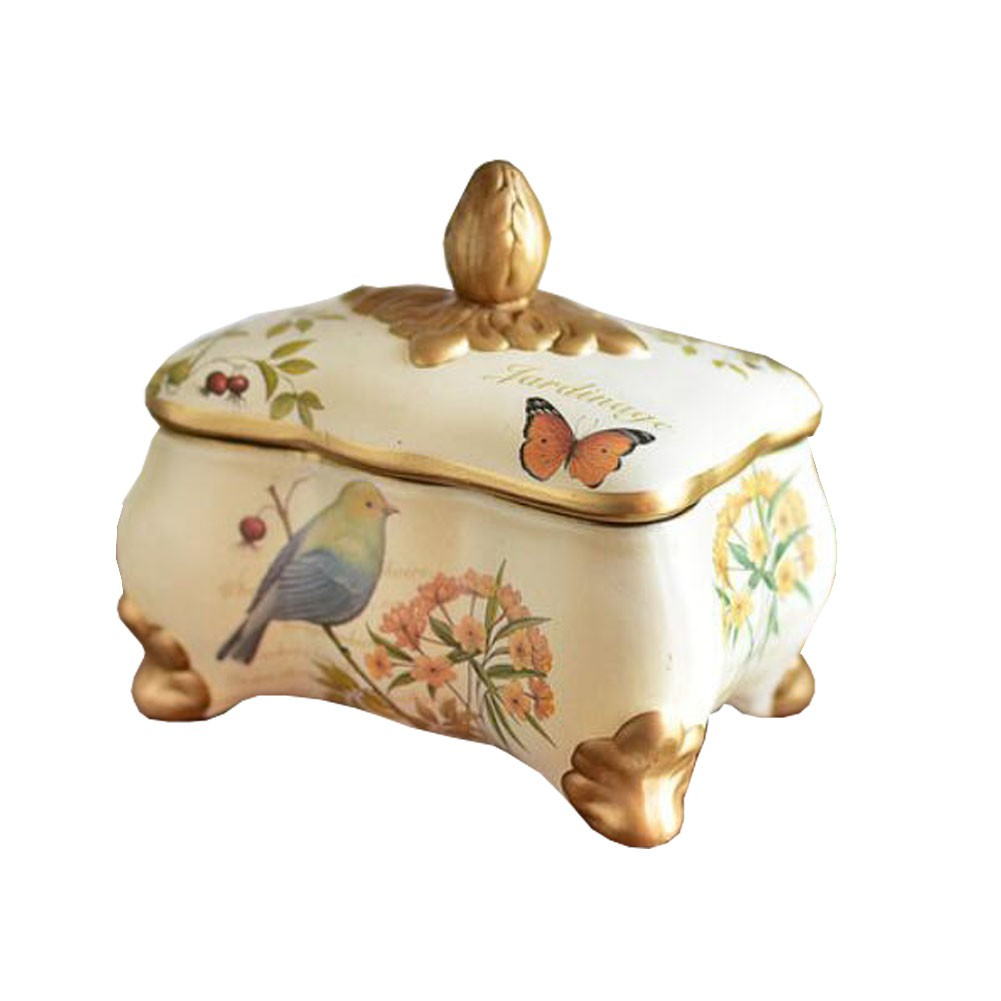 Cute Tinplate Airtight Canister Storage Lid Pots Candy Jar for Baked Goods