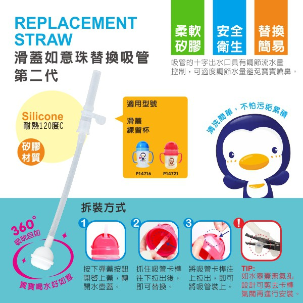 Ready Stock PUKU REPLACEMENT STRAW for P14716、P14721