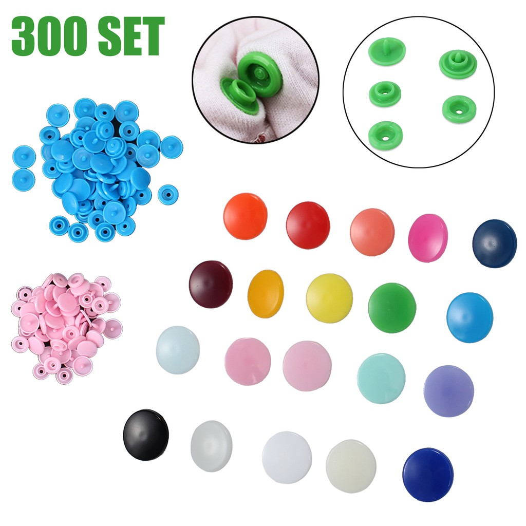 360 Sets KAM Snap Kit T5 Plastic Snaps Fastener Buttons Press Stud w//