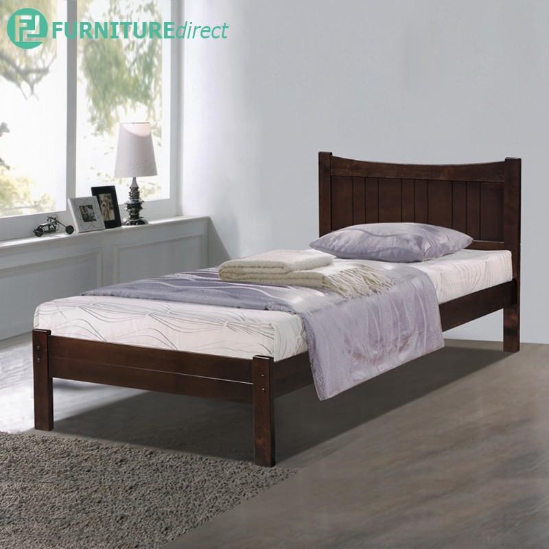 WOODEN SINGLE BED SB-5259 / katil single / katil kayu / katil ikea / katil murah / bedroom / mattress