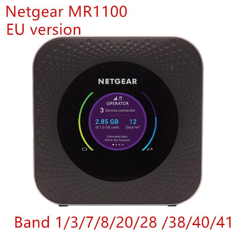Unlocked EU version Netgear Nighthawk M1 MR1100 1A1NAS Mobile Hotspot WiFi  Router power bank 4g router lan port