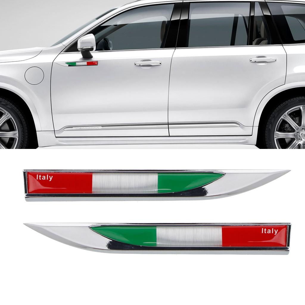 Aluminum Italian Flag Map Car Sticker Logo Emblem Badge For Iveco Lamborghini Automobiles & Motorcycles Car Stickers