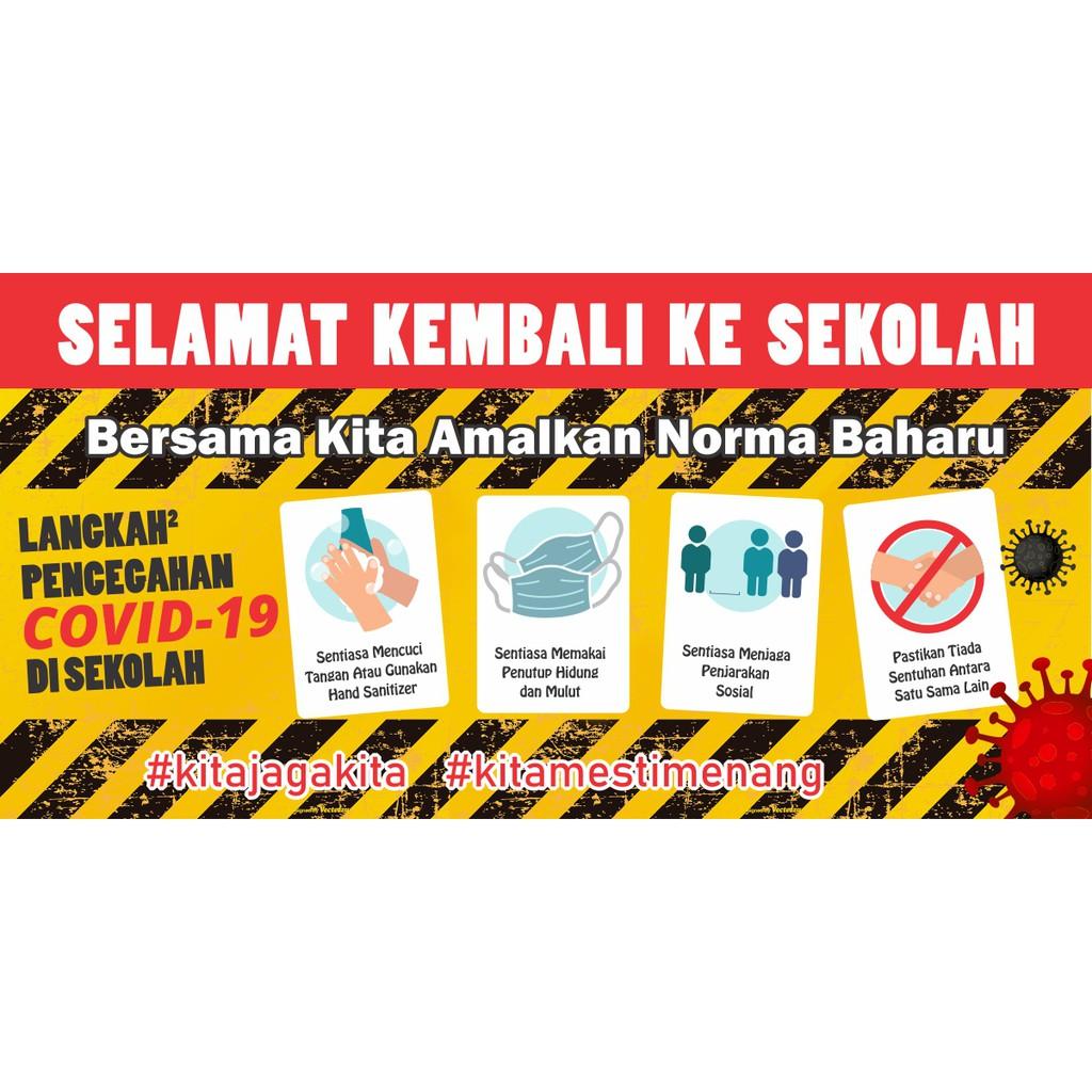 Banner Selamat Kembali Ke Sekolah Sop Covid 19 Shopee Malaysia