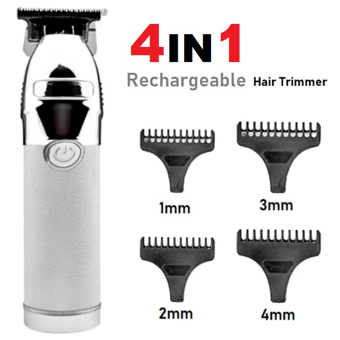 Rechargeable Electric Hair Trimmer Clipper Shaver Ceramic Titanium Blade Beard Razor Kit