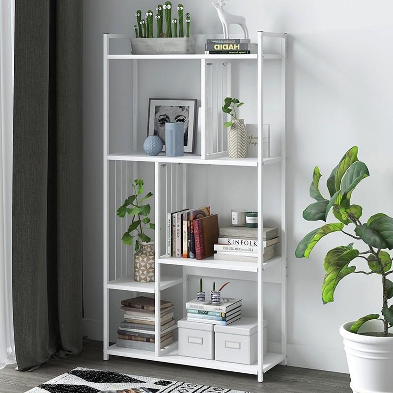GDeal Home Decoration Living Room Bookcase Space Saving Multi Layer Minimalist Design Bookshelf