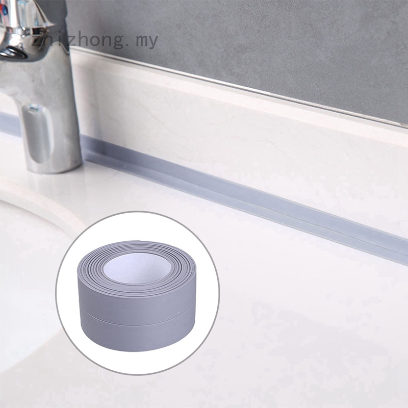 zhizhong Kitchen Bathroom Wall Sealing Tape PVC Waterproof Mildew Proof Sink Joint Crevice Sticker Corner Stick Strip