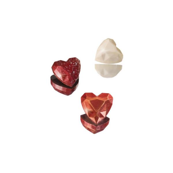 Martellato, Chocolate Polycarbonate Mould, Diamond Heart