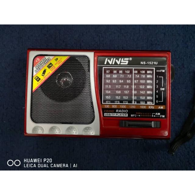 NNS 1521U Fm Radio Clear Speaker with Alquran and Torch Light