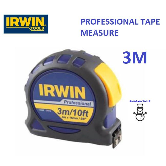 IRWIN PROFESSIONAL / STANDARD MEASURING TAPE 3M 5M 8M RULER MEASUREMENT MEASURER 13949 12950 13951 13946 13947 13948