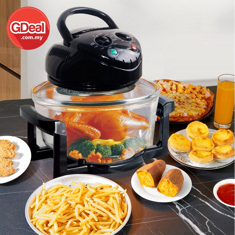 GDeal Multi Functional Air Fryer 13L Large Capacity With Transparent Design