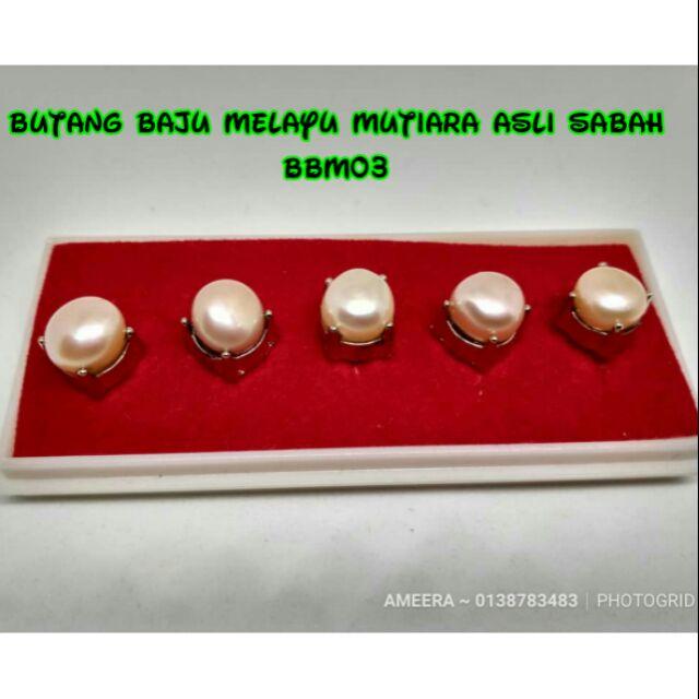 Butang Baju Melayu Mutiara Asli Sabah (Air Tawar)  b2d96f0e3d