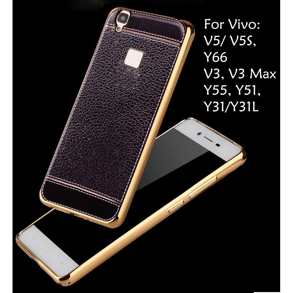 VIVO V5 V5S WINDOW SPARKLE LEATHER FLIP CASE GOLD RED BLACK   Shopee Malaysia