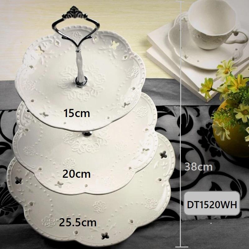 [ READY STOCK ]  European Style Fruit Plate Tea Cake Table Dessert Tray Storage Kitchen Jualan Murah Simpanan Cup Party