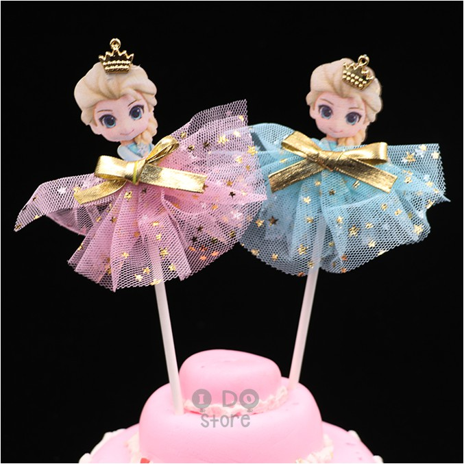 Magnificent Ready Stockcute Elsa Birthday Cake Topper Shopee Malaysia Funny Birthday Cards Online Overcheapnameinfo