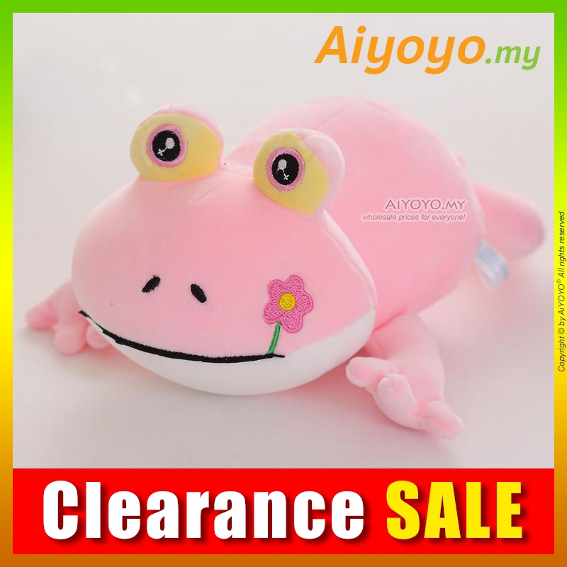 Frog Bean Toy 35CM PINK Stuffed Plush Soft Teddy Bear Doll Toys Cushion Pillow