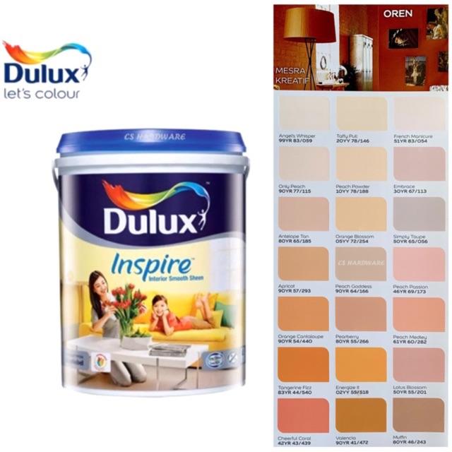 5 Litre ICI DULUX Inspire Interior Smooth Sheen Paints (Oranges)